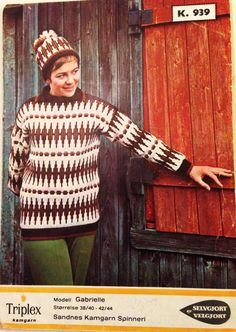 Gabrielle k 939 Jumper, Men Sweater, Colour Combinations, Knitting Patterns, Craft Ideas, Sweaters, Crafts, Color, Fashion
