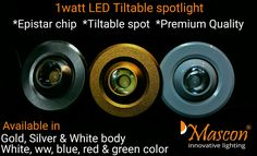 1wt Led tiltable recessed light. So tiny yet so elegant, that's it catches the attention of your eyes.! An amazing blend of craftmanship and design - Premium Available in a wide variety of finishes and colors. Mascon Liliput ML-C102  Team, Mascon Led :)