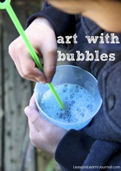 @LLJournalAust: Art with Bubbles. It's calming and fun. Add some colour to bubbles and make some beautiful, easy art. #lessonslearntjournal