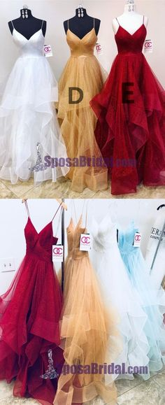 Charming Long Spaghetti Straps Tulle Simple Popular Fashion Prom Dresses, Prom Gowns For party, PD0582 The long prom dresses are fully lined, 4 bones in the bodice, chest pad in the bust, lace up back or zipper back are all available, total 126 colors are available. This dress could be custom made, there are no extra cost to do custom size and color. Description 1, Material: tulle, elastic satin like silk. 2, Color: picture color or other colors, there are 126 colors are available, please…