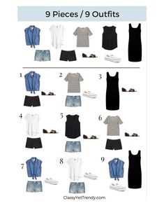 Packing list for summer vacation