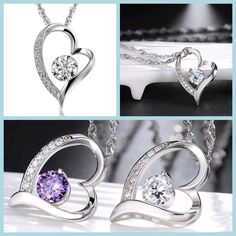 Heart - Silver (Platinum Plated) Pendant Necklace