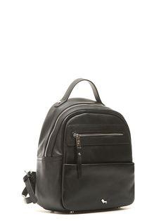 09892d6b6a2f Рюкзак на молнии черного цвета из кожи