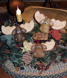 Primitive Patti's Ratties Moose Ornies Bowl por pattisratties