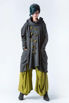 Bolzano Tunic in Grey Stonewash Tokyo | KALIYANA.COM Rolled Hem, Eclectic Style, Tokyo, Rain Jacket, Windbreaker, Raincoat, Tunic, Comfy, My Style