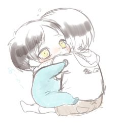 Baby Eren and baby Levi // AoT