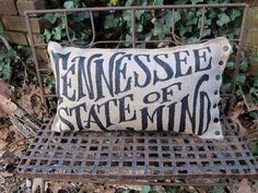 Hey, I found this really awesome Etsy listing at https://www.etsy.com/listing/127447670/tennessee-state-of-mind-burlap-pillow