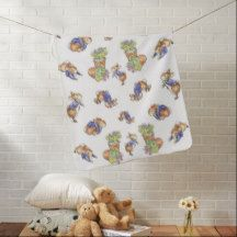 Inspired By P Rabbit Friends Baby Blanket Mermaid
