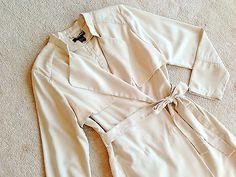 H M Womens Beige Ivory Inspector Juliet Belted Panel Trench Coat NWOT 14 | eBay