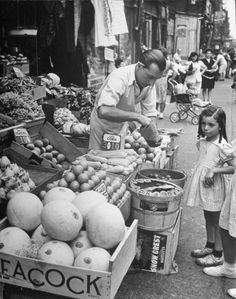 Moore Street near Graham Avenue, Brooklyn, 1946.  Hipsterless Brooklyn: Vintage Photos From a Vanished World | LIFE.com