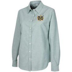Michigan Wolverines Splatter Logo Ladies' Long Sleeve Oxford Shirt