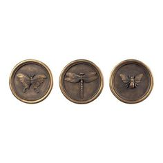Sterling Industries 93-10073/S3 3 Piece Bug Wall Art