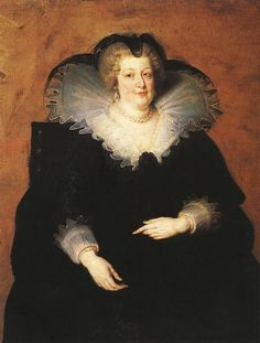 -- Portrait Of Maria de Medici - Queen Of France - 1622 -- Peter Paul Rubens -- Flemish -- Oil on canvas -- Museo del Prado -- Madrid, Spain Peter Paul Rubens, Pedro Pablo Rubens, Voyage Florence, Florence Italy, Rubens Paintings, Pierre Paul, French History, European History, King Henry