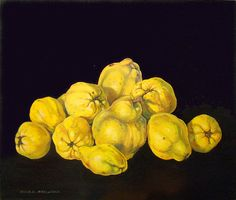 FactoryOfTheArtIdeas on Etsy Quince Fruit, Golden Color, Big And Beautiful, Sally, Etsy Store, Oil On Canvas, I Shop, Business, Painting