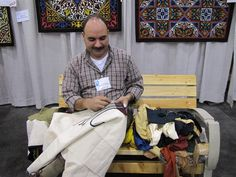 Tarek Abouelenin of the Tentmakers of Cairo at the Grand Rapids AQS show.