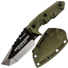 HX OUTDOORS - fixed blade tactical knives with sheath,Tanto Blade outdoor survival knife,Special forces tactical knife,Ergonomics anti-skidding Handle (MERCENARIES - MINI) Survival Weapons, Survival Knife, Survival Gear, Cool Knives, Knives And Swords, Tactical Knives, Tactical Gear, Kydex, Best Pocket Knife