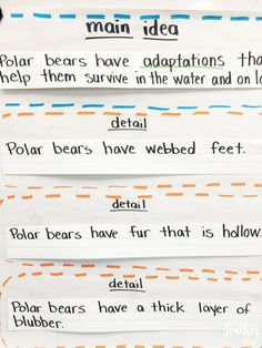 Main idea and supporting details 3rd 5th grade worksheet lesson main idea and detail anchor chart ibookread Download