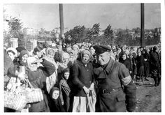 Babiy Yar, Ukraine, Jewish women who were collected by local collaborators, October 1941.