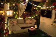 Summer balcony arrangement 2016 – My Own Summer balcony arrangement … – The Best Ideas Rockery Garden, Terrace Garden, Apartment Balcony Decorating, Apartment Balconies, Diy Balkon, Balkon Design, Decoration Originale, Romantic Homes, Indian Home Decor