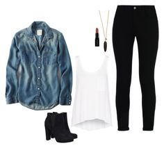 """Iris West Inspired Outfit"" by daniellakresovic ❤ liked on Polyvore featuring rag & bone, STELLA McCARTNEY and Smashbox"