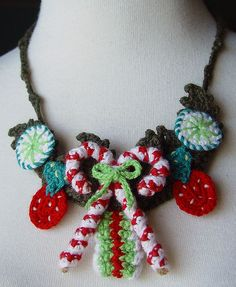 Christmas Candy necklace