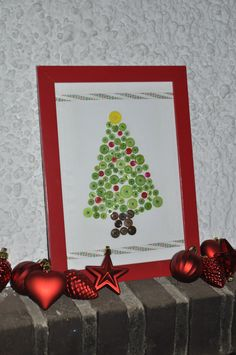 Button Christmas Tree. Cute!