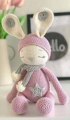Mesmerizing Crochet an Amigurumi Rabbit Ideas. Lovely Crochet an Amigurumi Rabbit Ideas. Crochet Cat Pattern, Crochet Animal Patterns, Stuffed Animal Patterns, Crochet Patterns Amigurumi, Crochet Dolls, Amigurumi Toys, Free Pattern, Doll Patterns Free, Pattern Ideas