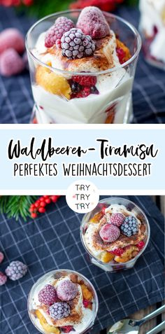Weihnachtliches Waldbeeren-Tiramisu / Dessert / Dessert im Glas / Weihnachtsdessert / Schicht-Dessert / Dessert für Weihnachten Tiramisu Dessert, Homemade Frappuccino, Frappuccino Recipe, Berry Smoothie Recipe, Easy Smoothie Recipes, Coconut Milk Smoothie, Grilled Fruit, Cinnamon Cream Cheeses, Pumpkin Spice Cupcakes