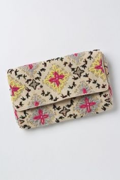 ANTHROPOLOGIE : Tetrapoint Embroidered Clutch | Sumally