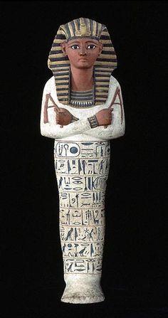 Serviteur funéraire  Ramsès IV  1153 - 1147 avant J.-C. (20e dynastie)  bois peint  H. : 32,50 cm.