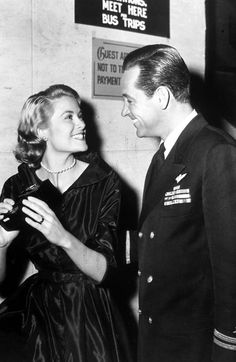 Grace Kelly and William Holden