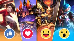 Vote for your favorite Legend Now by choosing the associated reaction! Who do you think will win? Moba Legends, Mobile Game, Thinking Of You, Comic Books, Comics, Art, Thinking About You, Art Background, Kunst