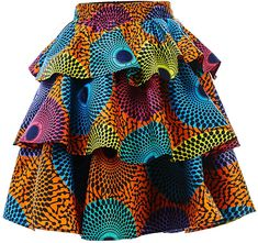 african fashion ankara HongyuAmy Women African Print Skirt Ankara Skirts Dashiki Clothing (Medium, Color A) African Dresses For Kids, Latest African Fashion Dresses, African Print Fashion, African Print Skirt, Ankara Skirt, African Attire, Printed Skirts, Skirt Fashion, Dashiki Clothing