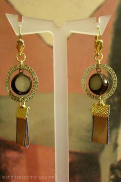 Boucles d'oreilles bijou style vintage / par lesbetisesdemailys, $35,00