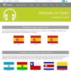 Podcasts de Latinoamérica y España. Cultura 'http://www.lengalia.com/en/learn-spanish-for-free/podcasts.html' snapped on Snapito! #educaspain