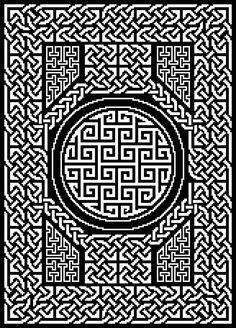 All Tied Up Table Topper: Celtic Knots in Filet Crochet