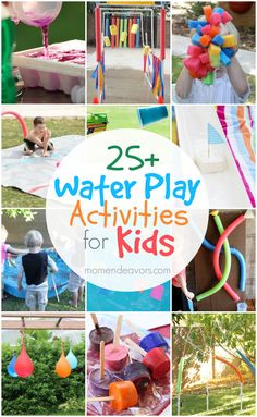 Outdoor Water Play Activities for Kids - so many fun, creative ideas! Outdoor Water Play Activities for Kids - so many fun, creative ideas! Water Play Activities, Water Games For Kids, Outdoor Activities, Sleepover Activities, Party Activities, Family Activities, Outside Kid Activities, Outdoor Water Games, Outdoor Play