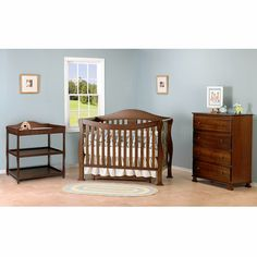Parker 4-in-1 Convertible Crib- Coffee