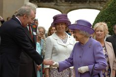 The Queen meets The Duke of Buccleuch at Abbotsford House.