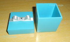 Caixinha 5x5 ou 6x6 para lembrancinha na cor azul tiffany