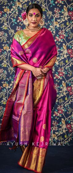 Kanjiveram Sarees by Ayush Kejriwal For purchases email me at designerayushkejriwal@hotmail.com or what's app me on 00447840384707 We ship WORLDWIDE. Instagram - designerayushkejriwal