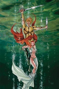 AQUAMAN: SWORD OF ATLANTIS #41//Carlos Pacheco/P/ Comic Art Community GALLERY OF COMIC ART