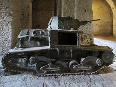This Italian Fiat tank displayed at Gjirokaster Castle, Albania, is one of only three surviving from the 283 commissioned during World War Two. Modern Pictures, Albania, Armed Forces, World War Two, Fiat, Military Vehicles, Survival, Castle, Display