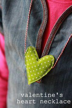 Valentine's handmade heart necklace.