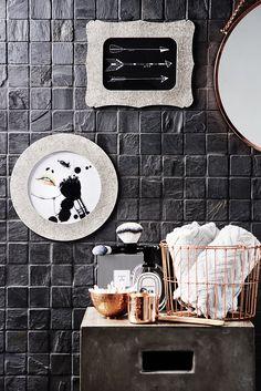 Popular Eine edle Kombination Glamour ses Kupfer trifft Filz im Badezimmer roomstories de