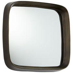 Square'd Mirror in Vintage Brass