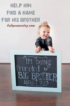 Cute way to announce a second pregnancy.