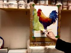 Expressive Acrylic Painting with Patti Mollica - Lesson 2, Bold & Colorful Rooster Demo - YouTube