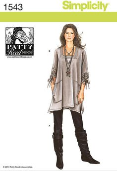 Lagenlook Tunic Top Pattern, Trendy Plus from YourSewingBasket on