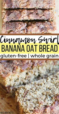 This easy, healthy Banana Bread Recipe is a spin on the classic, with a cinnamon. This easy, healthy Banana Bread Recipe is a spin on the classic, with a cinnamon swirl in the middl Gluten Free Zucchini Banana Bread, Protein Banana Bread, Oatmeal Banana Bread, Sugar Free Banana Bread, Cinnamon Banana Bread, Flours Banana Bread, Easy Banana Bread, Keto Bread, Whole Grain Gluten Free Bread Recipe